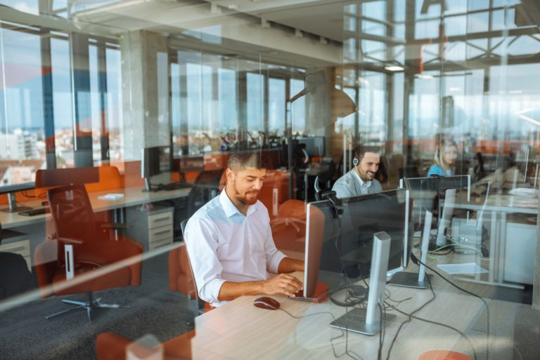 call center automation examples agents working in call center