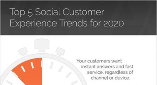 social customer experience trends for 2020 infographic