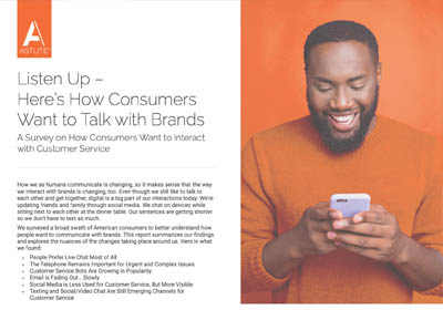 image of the report on how consumers want to talk to brands