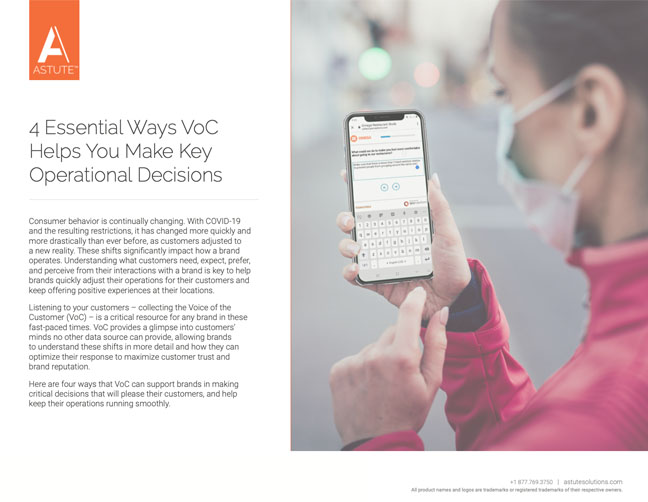 voice of customer operational decisions covid 19 thumbnail
