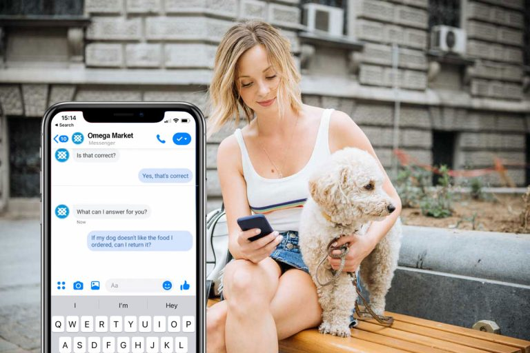 example of facebook messenger for customer service