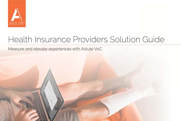 Cover Astute VoC solution guide for Health Insurance Providers
